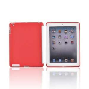 Red TPU Hard Silicone Case Cover For Apple iPad 2 New iPad