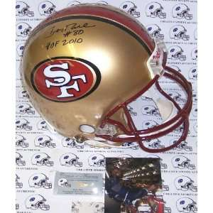 Jerry Rice Hand Signed San Francisco 49ers Throwback
