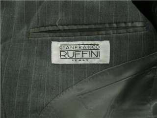 Ruffini Mens Sharp Gray Three Button Blazer Suit Coat 40S
