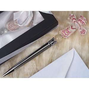 Murano Art Deco Collection Letter Opener with Pink Glass