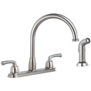 Delta 21916 SS Two Handle Kitchen Faucet With Spray, Stainless