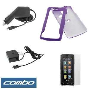 Solid Purple Rubberized Snap On Crystal Hard Case