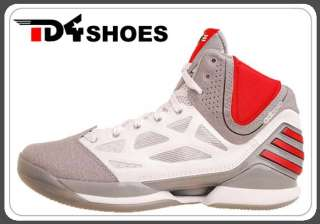 Adidas adiZero Rose Dominate 2.5 Grey White 2012 Mens Basketball Shoes