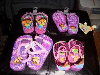 Dora The Explorer Toddler Girls Pink Sandals Shoes Slippers New Free