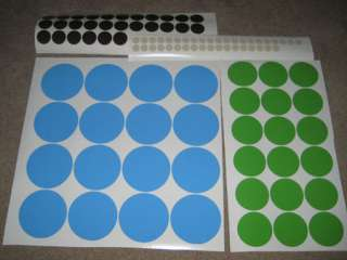 50 Polka Dots 2 Color Vinyl/Stickers Wall Decal Decor