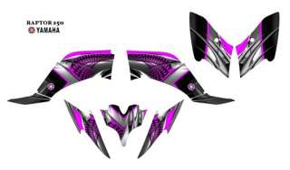 YAMAHA Raptor 2500 Atv Graphic Decal Kit 7777 Hot Pink