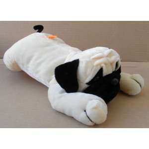Laying Down Pug Dog Stuffed Animal Plush Toy   12 inches