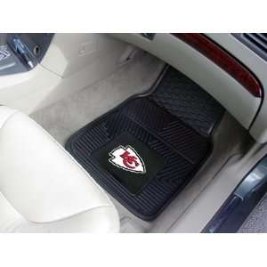 Kansas City Chiefs NFL Heavy Duty 2 Piece Vinyl Car Mats