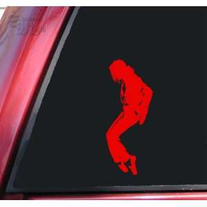 Michael Jackson Silhouette Vinyl Decal Sticker   Red
