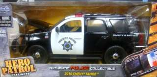 JADA HERO PATROL 1/24 AUTHENTIC POLICE HIGHWAY PATROL 2010 CHEVY TAHOE
