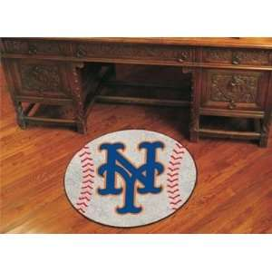 New York Mets Baseball Shaped Area Rug Welcome/Door Mat
