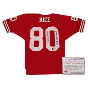 Jerry Rice Autographed Authentic Style San Francisco 49ers