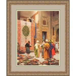 The Carpet Market by Jean Leon Gerome   Framed Artwork