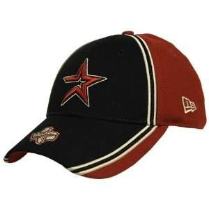 New Era Houston Astros Black Piping Hot Hat  Sports