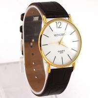 Golden Good Luxury Fashion Mens Man Teenagers Quartz Wrist Watch, LXO