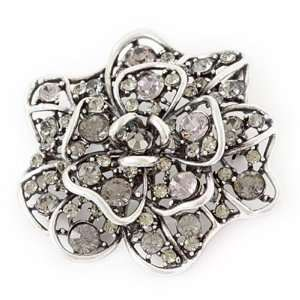 Austrian Crystal Flower Brooch Pin Jewelry