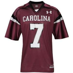 Under Armour South Carolina Gamecocks #7 Garnet Replica
