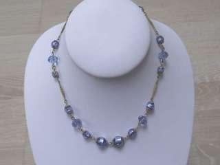 ART DECO FOIL GLASS BEAD NECKLACE 1920