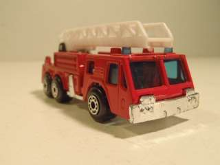 1982 Matchbox Fire Engine Red w/ Ladder Made In Macau