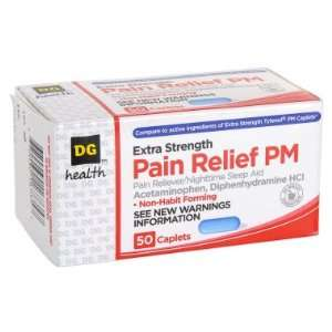 Strength Pain Reliever PM Caplets   50 ct