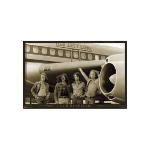 Led Zeppelin Poster ~ World Tour Plane 1973 ~ 22x34