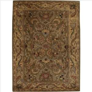 Organico Opulent Antique Olive Green Oriental Rug Size