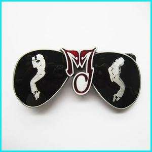 MICHAEL JACKSON BLACK RED DANCING Belt Buckle MU 084