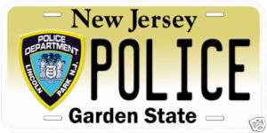 New Jersey Lincoln Park Police Novelty License Plate