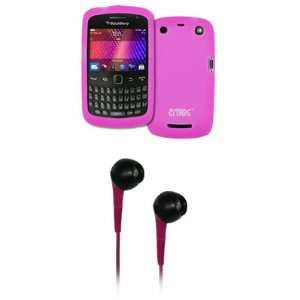 EMPIRE Hot Pink Silicone Skin Cover Case + Hot Pink 3.5mm