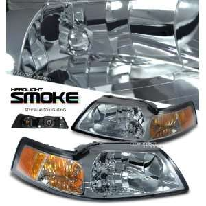 99 00 01 02 03 04 FORD MUSTANG GT SVT SMOKED 1PC HEADLIGHT
