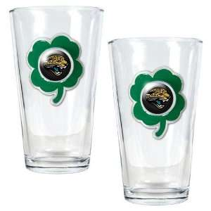 NFL Jacksonville Jaguars St. Patricks Day 2pc Pint Glass