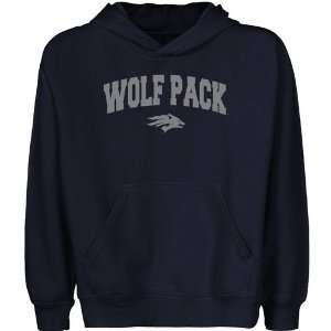 Nevada Wolf Pack Youth Navy Blue Logo Arch Pullover Hoody