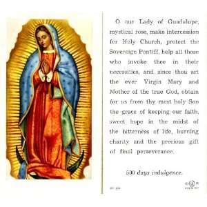 Our Lady of Guadalupe Holy Card (5P 105)   100 pack
