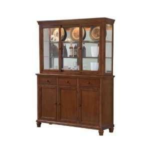 Casual Home Complete China Cabinet by GS Furniture   Dark