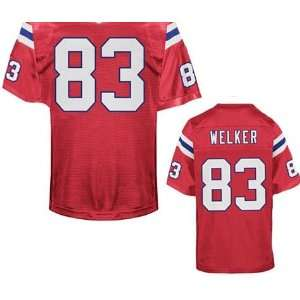 New England Patriots NFL Jerseys #83 Wes Welker Retro Red