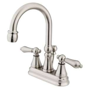 Governor 4 Inch Centerset Lavatory Faucet with Brass Pop Up with Metal