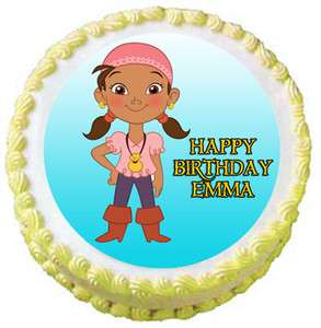 IZZY JAKE AND THE NEVERLAND PIRATES Edible Birthday Party Cake Image