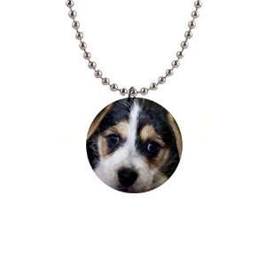 Jack Russell Puppy Dog Button Necklace B0702 Everything