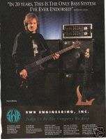 JOHN PAUL JONES Led Zeppelin SWR Bass Systems 1995 Ad