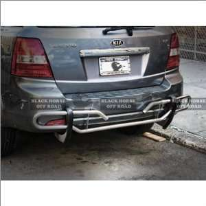03 10 Kia Sorento Black Horse Stainless Steel Bumper Guard