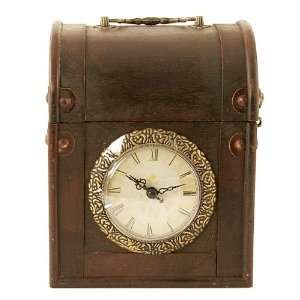 Antique Style Decorative Wooden Jewelry Box with Clock