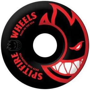 Spitfire Bighead Black Ii 56mm Black Red Skate Wheels