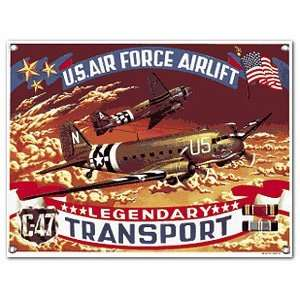 WWII C 47 Transport Fighter Planes Porcelain Sign