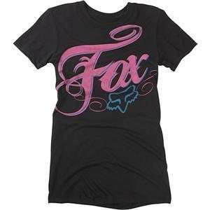 Fox Racing Womens White Lightning T Shirt   Medium/Black Automotive