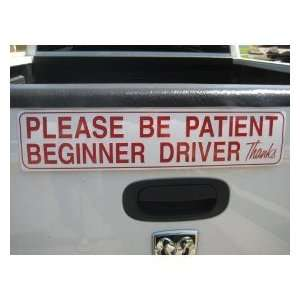 Student Driver Magnetic Car Sign Automotive