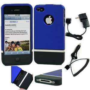 Piece Detachable Top Bottom Hard Case for Apple iPhone 4S and iPhone