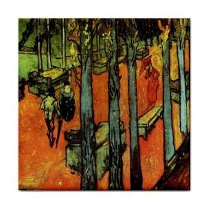 Les Alyscamps Falling Autumn Leaves By Vincent Van Gogh