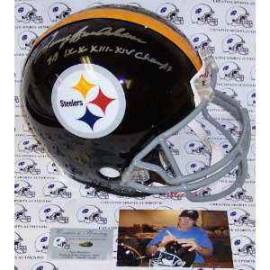 Terry Bradshaw Hand Signed Pittsburgh Steelers Throwback Authentic