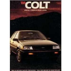 1988 DODGE COLT Sales Brochure Literature Book Automotive