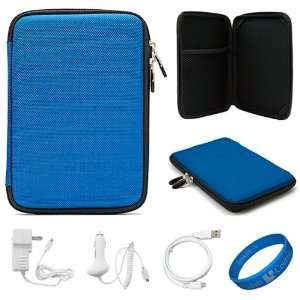 Blue Scratch Resistant Nylon Protective Cube Carrying Case Kindle Fire